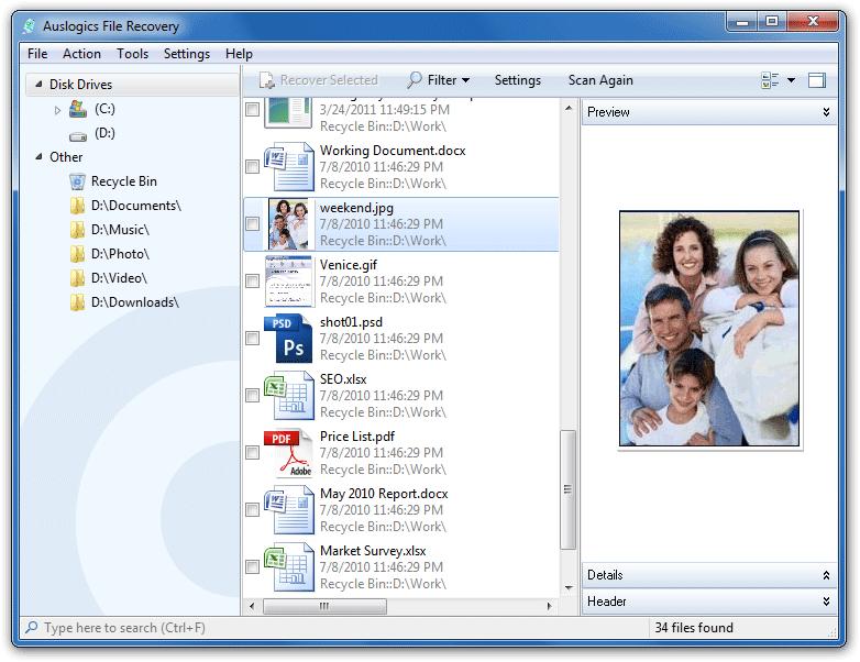 recuperar archivos borrados por accidente