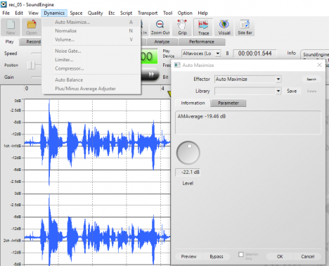 Normalizar audio con SoundEngine