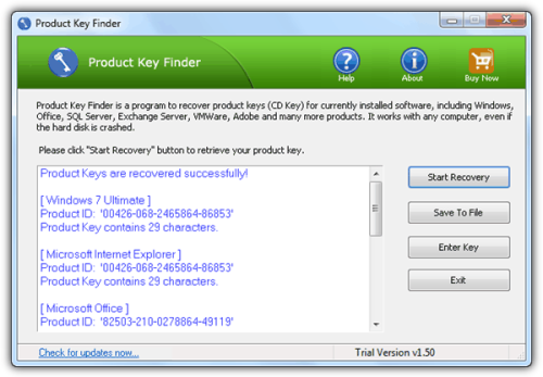 Product Key Finder by Top Password