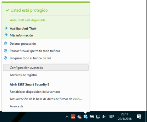 regla firewall ESET Smart Security