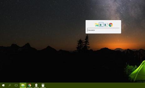 Selector de aplicaciones en Windows XP
