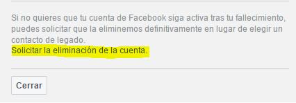 cuenta de Facebook