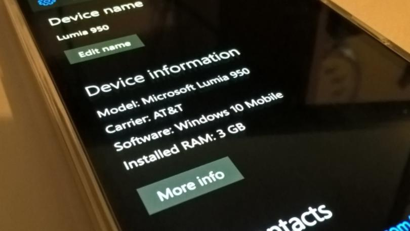 Windows 10 Mobile build 15207