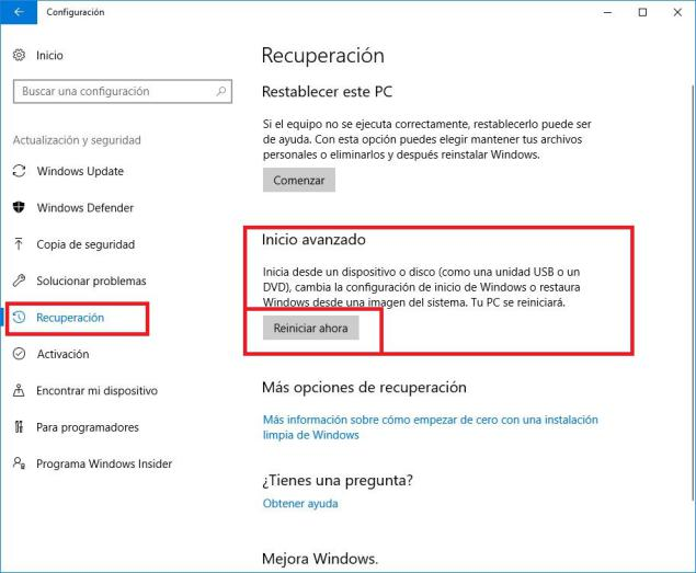 firmado de controladores Windows 10