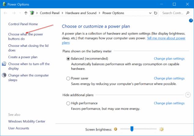 apagar la pantalla en Windows 10