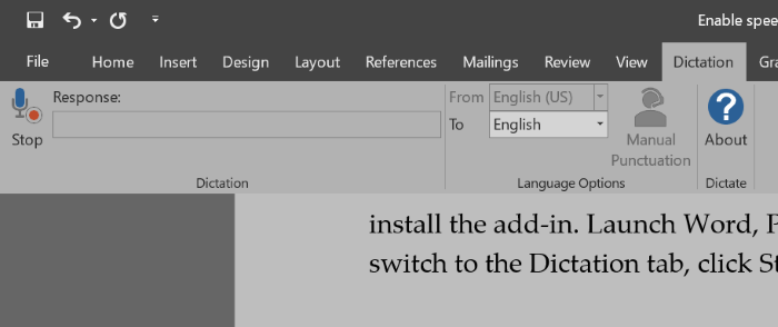 Microsoft Dictate Gratis