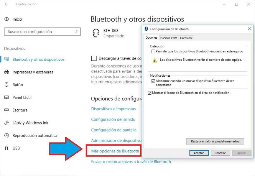 icono de Bluetooth
