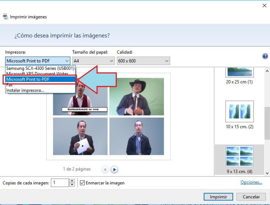 unir varias imagenes en PDF