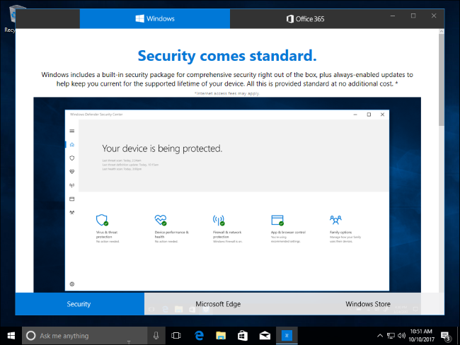 Truco Windows 10 demo comercial