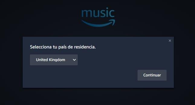 Amazon Music en Windows 10