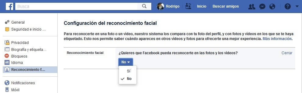 Reconocimiento Facial Facebook
