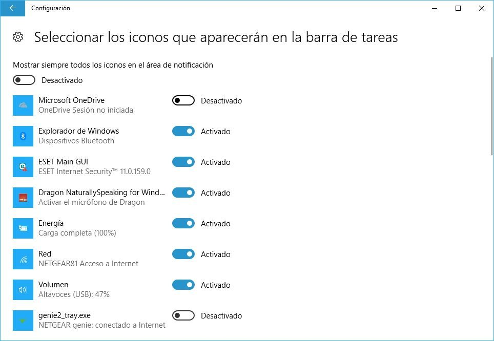 desactivar Onedrive en Windows 10