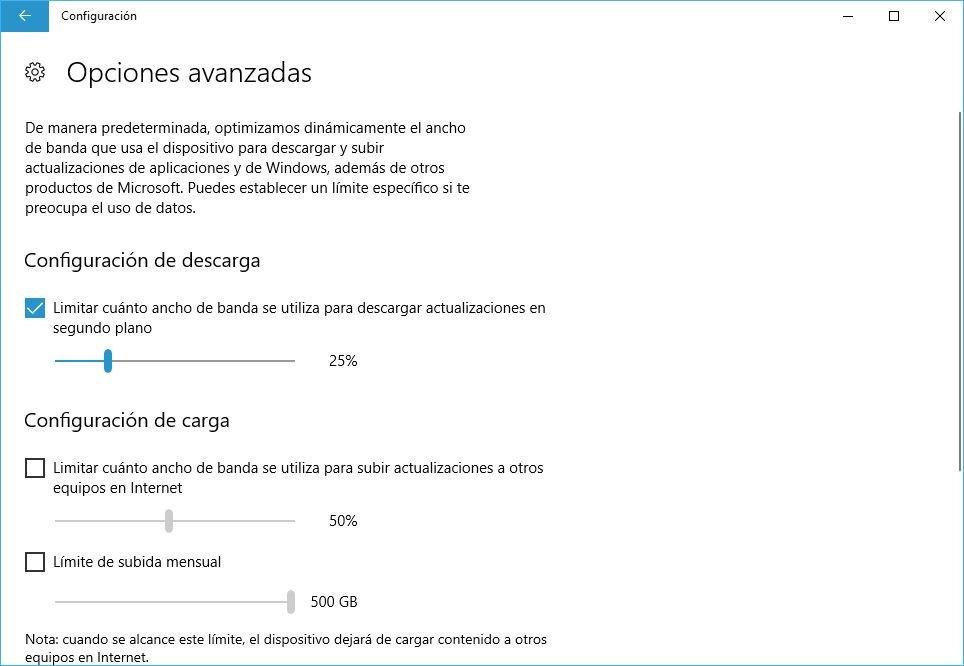 limitar descargas en Microsoft Store