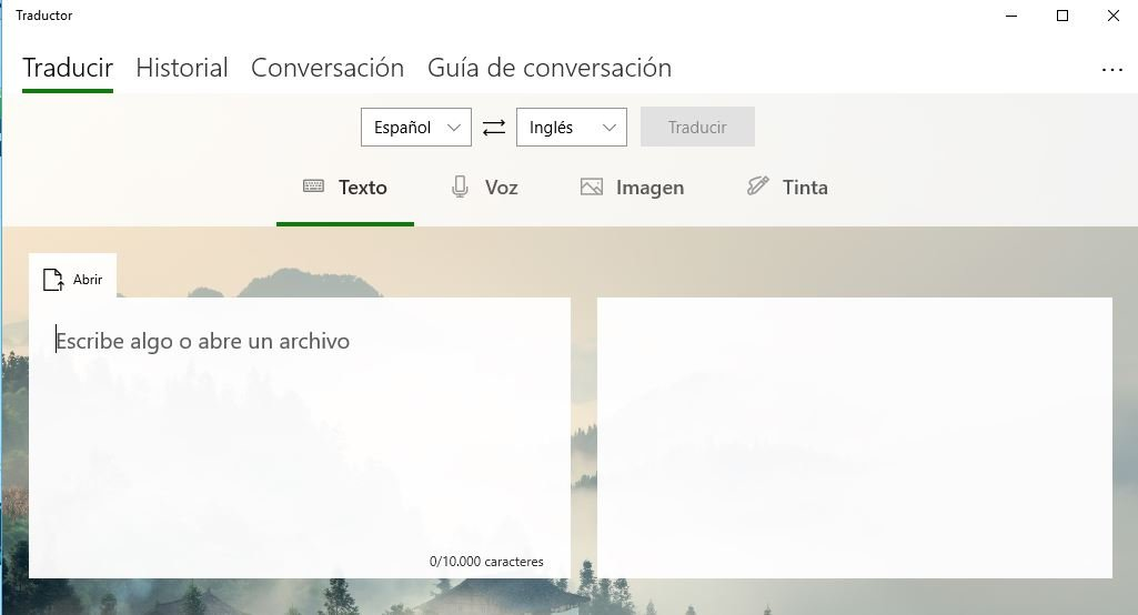 traductor de Microsoft en Windows 10