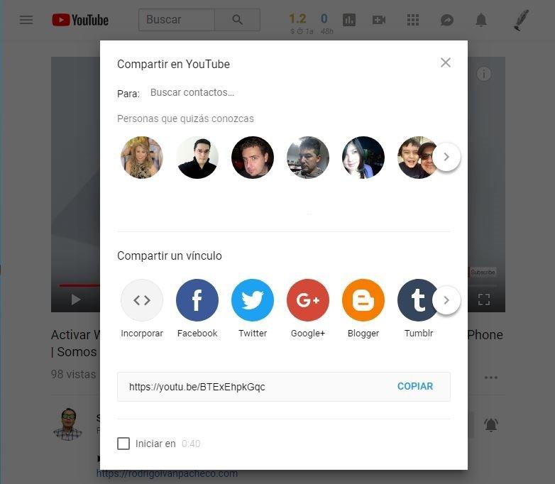 Como compartir videos en YouTube en el 2018