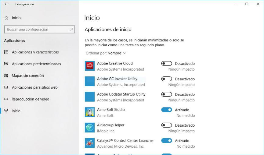 acelerar el PC al máximo con Windows 10