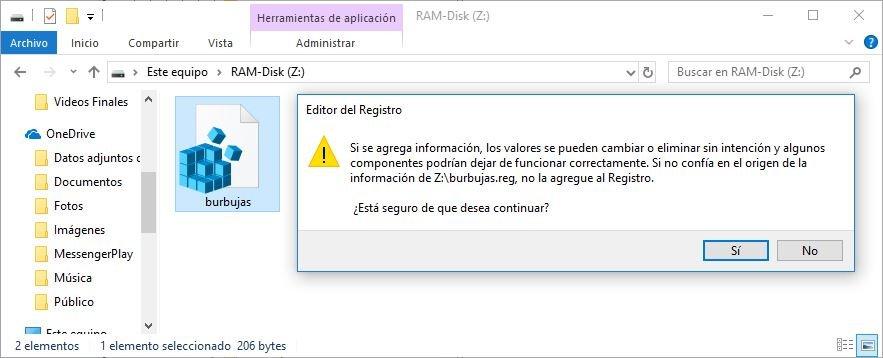 salvapantallas burbujas para Windows 10