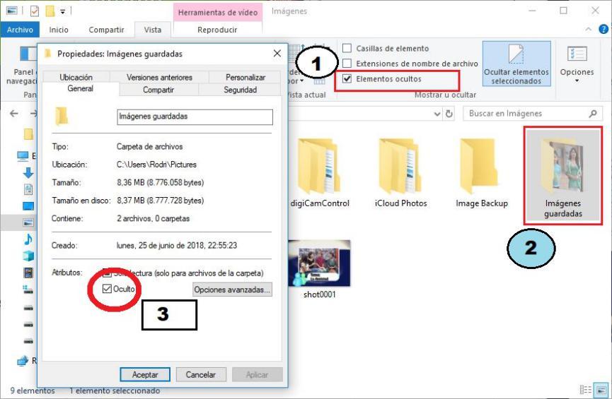 Como ocultar carpetas en Windows 10