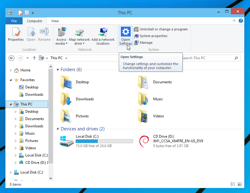 Panel de Control Windows 10 cambiado de nombre