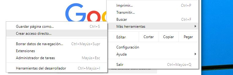 anclar Google Search en Windows 10