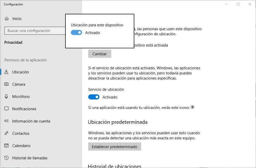mejorar la privacidad en Windows 10