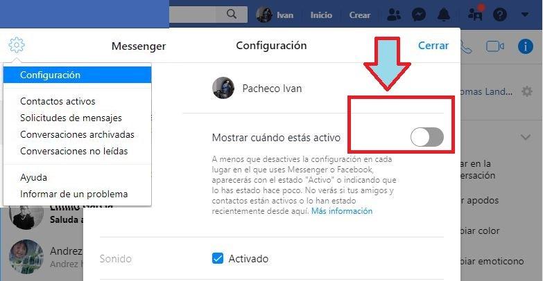 truco oculto Facebook Messenger
