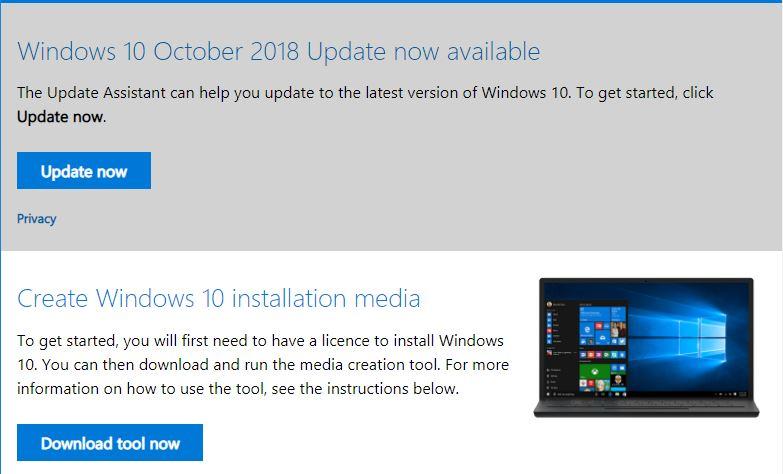 Windows 10 Build 1809