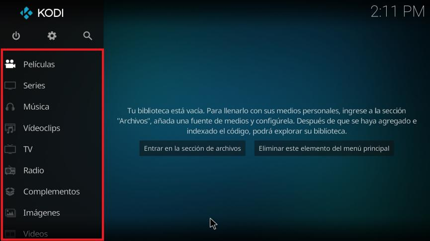 Kodi en Windows 10 para reproducir DVD