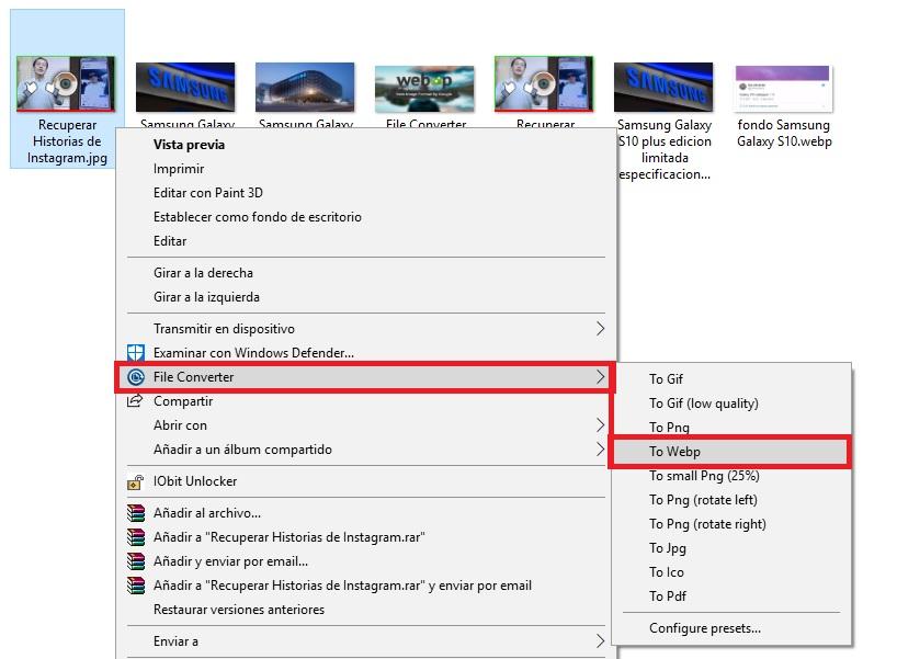 File Converter jpg a webp
