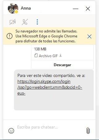 Skype Web en firefox
