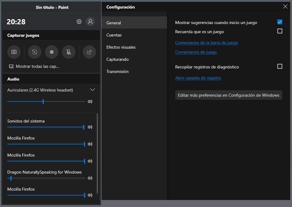Barra de Juegos Windows 10