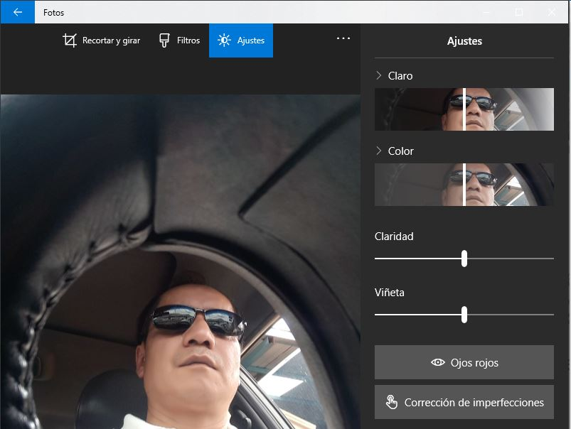 Microsoft Fotos para editar imagenes