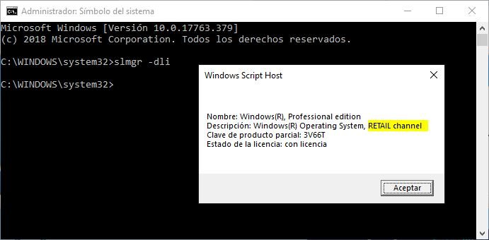 licencia de Windows 10