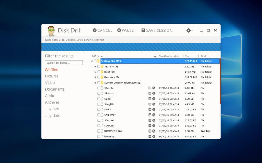 recuperar archivos borraos en Windows