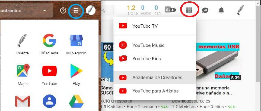 Accesos Directos de YouTube